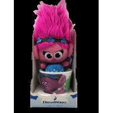 Розочка тролль МЕГА брелок игрушка в кружке DreamWorks